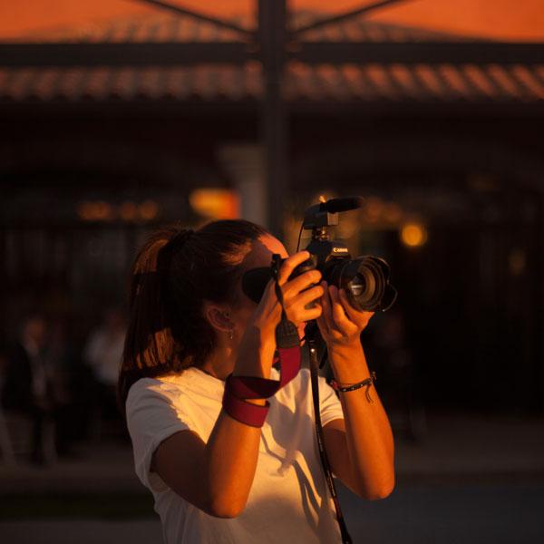 Andre, operadora de cámara Video Salamanca